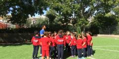 L' educazione motoria nel nuovo campo di calcio