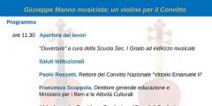 Giuseppe Manno musicista: un violino per il Convitto