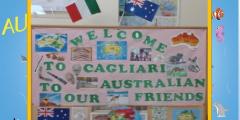 I bambini accolgono la delegazione  Australiana